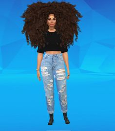 Big afro hair for the Sims 4!