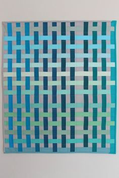 "The stunning ""Kahurangi"" quilt (finished Feb 2012) by Megan of Jaffa Quilts, woven look, modern quilt"