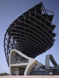 The open end of the Kaohsiung stadium by Toyo Ito - winner of the  2013 Pritzker architecture prize.