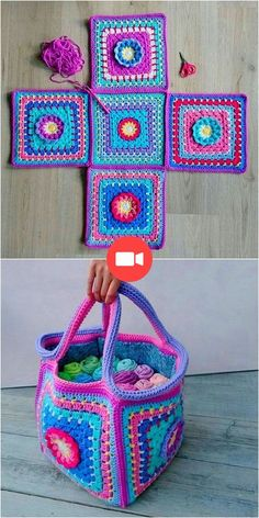 Easy DIY Crochet Patterns For Numbers Of Items Amazing Crochet Bag Pattern Gilet Crochet, Bag Crochet, Crochet Handbags, Cute Crochet, Crochet Yarn, Crochet House, Crochet Daisy, Diy Crochet Patterns, Easy Crochet Projects
