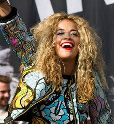 Rita Ora performing Wireless festival 2013 wearing Mary Benson