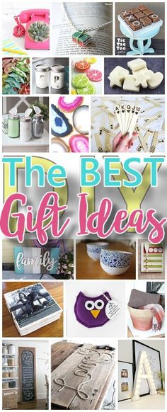 The BEST Do it Yourself Gifts - Fun, Clever and Unique DIY Craft Projects and Ideas for Christmas, Birthdays, Thank You or Any Occasions via Dreaming in DIY