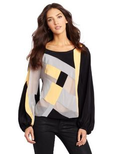 Robbi & Nikki Women's Color Multi Block Top Robbi & Nikki. $164.03. Made in China. Boat neck. Victorian-style puffed sleeve. 100% Silk. Dry Clean Only