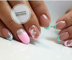 Try some of these designs and give your nails a quick makeover, gallery of unique nail art designs for any season. The best images and creative ideas for your nails. Beautiful Nail Art, Gorgeous Nails, Pretty Nails, Pedicure Designs, Nail Art Designs, Pink Nails, Toe Nails, French Pedicure, French Manicure With A Twist