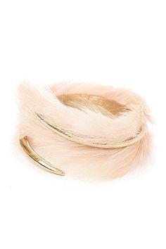 Feather Cuff Bracelet, $795; barneys.com   - ELLE.com