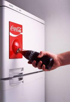 Fridge bottle opener