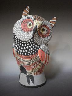curious picaaso owl by Carol Valk