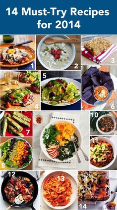 14 Must-Try Recipes for 2014 from Cooking Light and My Fitness Pal