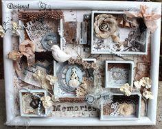 ILuvVintageScrap: Vintage Shabby Chic Engraver Shadow Box - Memories