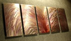 Eruption / Large 64x24 Abstract Modern Metal Wall Art by Niderart, $235.00