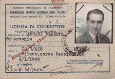 Alberto Ascari's Driver License