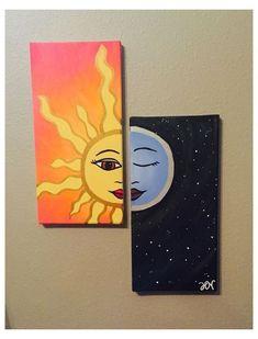Simple Canvas Paintings, Small Canvas Art, Mini Canvas Art, Easy Canvas Painting, Diy Canvas, Painting Art, Painting Flowers, Painting Tools, Canvas Ideas
