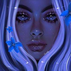 Image may contain: 1 person – Art Ideas Art Anime Fille, Anime Art Girl, Pretty Art, Cute Art, Portrait Art, Digital Portrait, Cartoon Art, Girl Cartoon, Beautiful Fantasy Art