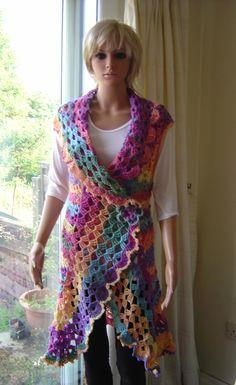 My version of the Deerfield vest pattern https://www.etsy.com/uk/shop/UrbanGypsyCrochet?ref=si_shop