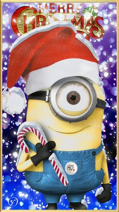 Merry Christmas to my fellow pintresters Minion Christmas, Christmas Movies, Christmas Things, Christmas Time, Minions Despicable Me, My Minion, Funny Minion, Funny Jokes, Cute Disney Wallpaper