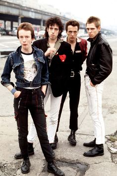 The Clash. Unknown photographer. What a great bunch of scrawny Brits. Unforgettable.