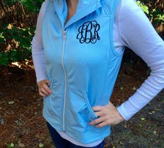 Monogrammed Vest  Monogrammed Gifts  by PoshPrincessBows1 on Etsy