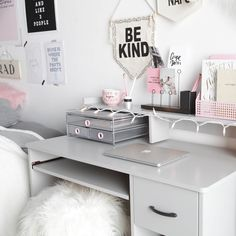 Get inspired by Dormify& favorite ways to style this new muted millennial favorite. Pink Bedroom Decor, Bedroom Decor For Teen Girls, Pink Bedrooms, Bedroom Ideas For Small Rooms Diy, Small Room Bedroom, Dorm Accessories, Big Desk, Dorm Room Storage, Desk Inspiration