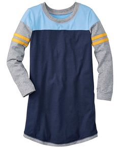 What a great find! A sports inspired dress for girls! It's no surprise that they only have a few sizes left! Hanna Andersson sizes 10-24 mo and 12yr-teen