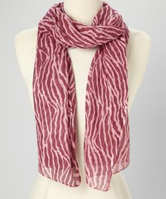 Take a look at this Pink Zebra Scarf by Raj Imports on #zulily today!