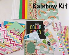 Card Making Kit With A Rainbow Focus Let The Kiddos Make Some Colorful Cards For Their Friends And Family Would Be Great Activity Birthday Parties