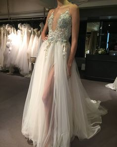 An entirely embroidered #handmade #weddingdress with #crystals and beads. The #GALA_706 a #masterpiece! Find at @trinitybridal.