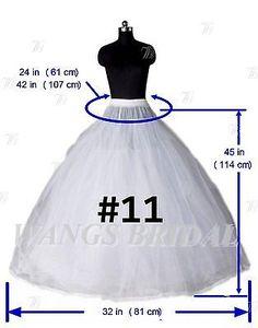 Blanco un line/mermaid Aro Bridal crinoline/petticoat/slips / Enagua Boda