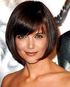 Katie Holmes, Layered Bob styled Hair