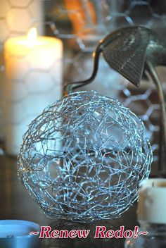 chicken wire balls.
