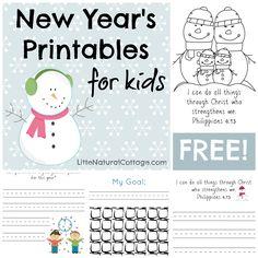 Free printable goal-setting for kids