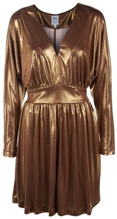 Metallic Cocktail Dress - Lyst