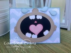 Baby Punch Art Card - Creative Challenge using Stampin' Up! Punches Sweetheart, Pansy, Confetti Border Punches, 2015 Created by Carolina Evans #stampinup #punchitup