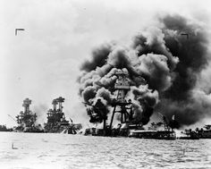 Pearl Harbor Attack USS Arizona Battleship WWII The U. Was hit in a Japanese sneak attack and declared war on Japan. This caused Germany to make the mistake of declaring war on the U. At that point Germany lost the entire war. Pearl Harbor History, Pearl Harbor Day, Pearl Harbor Attack, Uss Arizona, Remember Pearl Harbor, Day Of Infamy, Tennessee, Sneak Attack, Imperial Japanese Navy