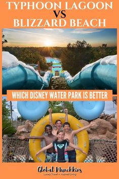 Typhoon Lagoon vs Blizzard Beach - Which Disney Water Park is Better Disney World Tipps, Disney World Tips And Tricks, Disney Tips, Disney Worlds, Best Family Vacations, Disney Vacations, Family Travel, Cruise Tips, Cruise Travel