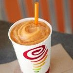 Jamba Juice: Mega Mango Smoothie Recipe.  Ingredients: 1 cup frozen mangos 1 cup frozen strawberries ½ cup orange juice ½ cup pineapple juice 1 cup ice
