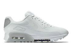 Boutique Officielle Nike Air Max 90 Chaussures Ultra Essential de Basketball Pour Femme Blanc Gris 724981-100