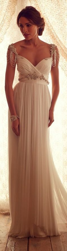 chiffon gown with a vintage feel