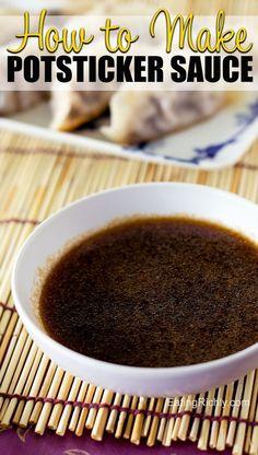 Easy Chinese Recipes, Asian Recipes, Homemade Chinese Food, Thai Recipes, Free Recipes, Dumpling Sauce, Dumplings, Potsticker Sauce, Pot Stickers Recipe