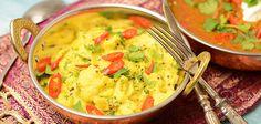 Yksi Intialaisen keittiön braavuurinäytteitä kasvisosastolla. Ideana on saada Aloo Gobista hieman suolainen, hapokas ja parhaimmillaan se on myös erittäin tulisena.