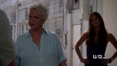 "Burn Notice 4x12 ""Guilty as Charged"" - Fiona Glenanne (Gabrielle Anwar) & Madeline Westen (Sharon Gless)"