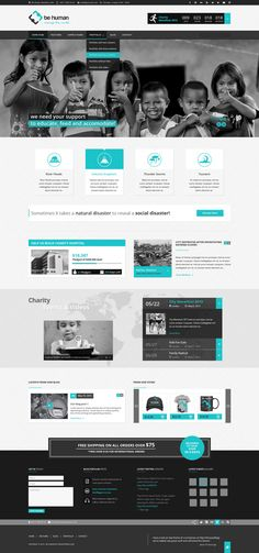 Be Human - Charity WP Theme by WordPress Awards, via Behance