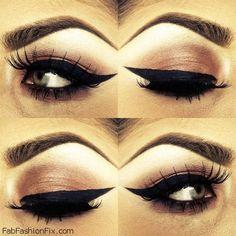 Eyeliner make-up look