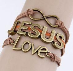 Jesus-Love Infinity Charm Bracelet