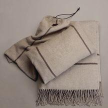 Cashmere blanket travel set by Bottega Veneta