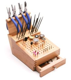 Jewelry Tools - Bur, File, and Pliers Organizer