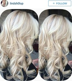 Light blonde with lowlights via lindsh0lup on Instagram