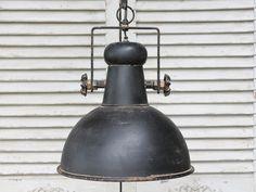 """Deckenlampe """"Factory"""", ø32 cm, antik schwarz, von Ch"""