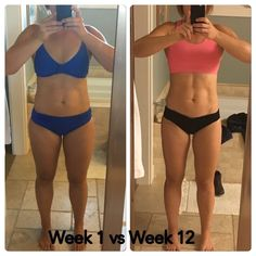 12 weeks of macro dieting before and after