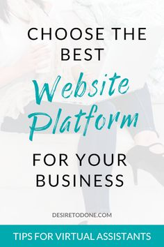 Ready to create your virtual assistant website? Here's how to choose the best website platform for your business, even if you aren't tech savvy. Home Based Business, Business Tips, Online Business, Cash From Home, Work From Home Moms, Website Design Inspiration, Virtual Assistant Services, Simple Website, Quitting Your Job