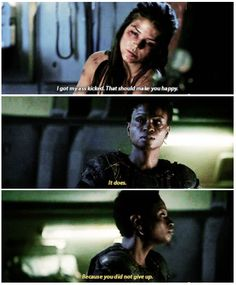 Octavia Blake and Indra in Survival of the Fittest || The 100 season 2 episode 10 || Marie Avgeropoulos and Adina Porter